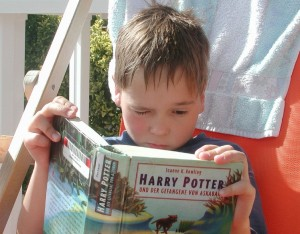 Boy Reading Potter